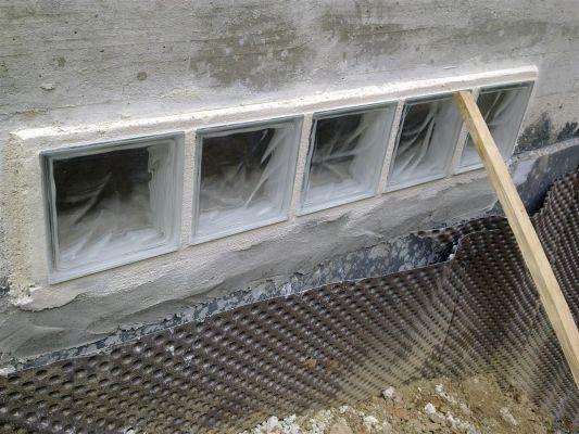 comment poser brique de verre exterieur