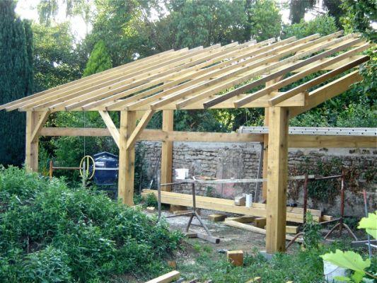 Plan charpente hangar bois gratuit