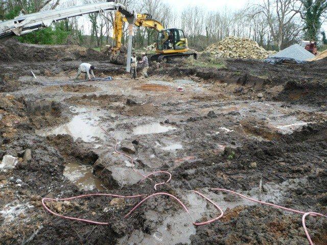 fondation par puit en beton armé