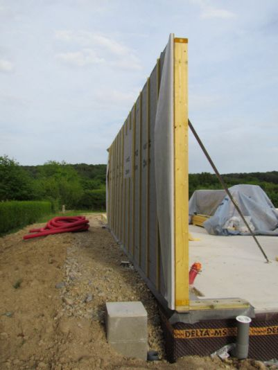 1er mur (garage Nord)