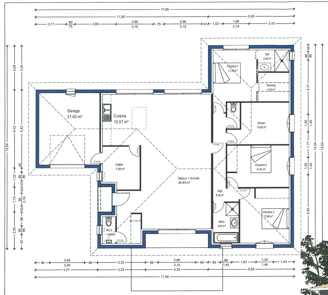 Plan maison orientation sud for Plans d architecture maison