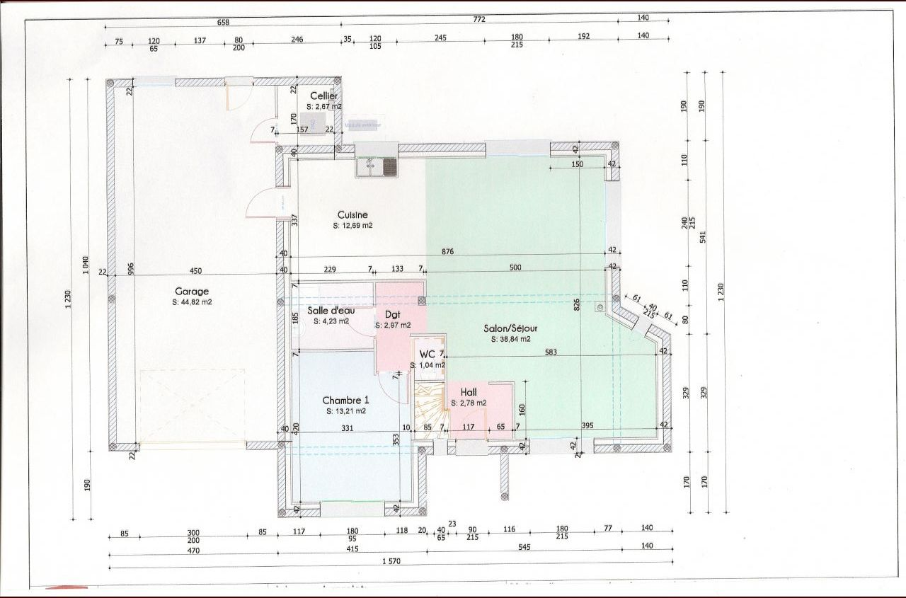 plan de maison du rdc