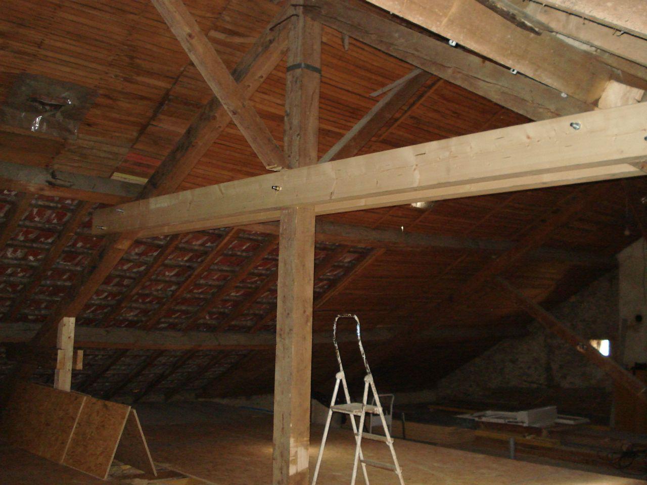 modification de la charpente pose fen tres de toit. Black Bedroom Furniture Sets. Home Design Ideas