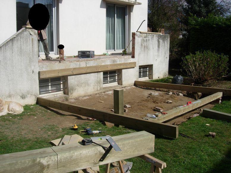 Terrasse composite sur poteaux 14 messages - Terrasse en hauteur beton ...