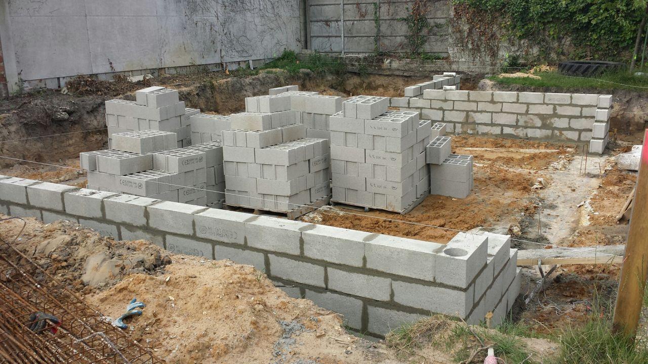 Photo 17 06 d marrage construction vide sanitaire fondations vide sanita - Vide sanitaire construction ...