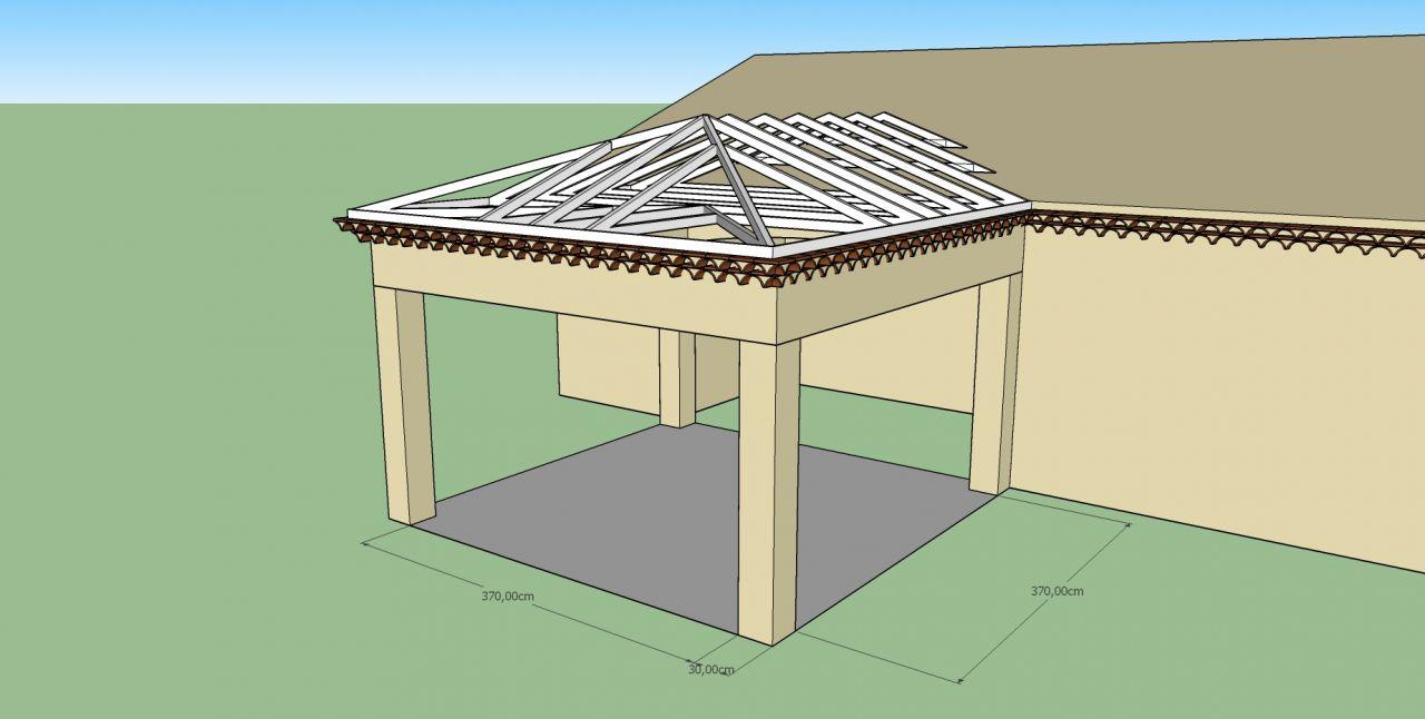 Fondation Et Poutre Terrasse Couverte