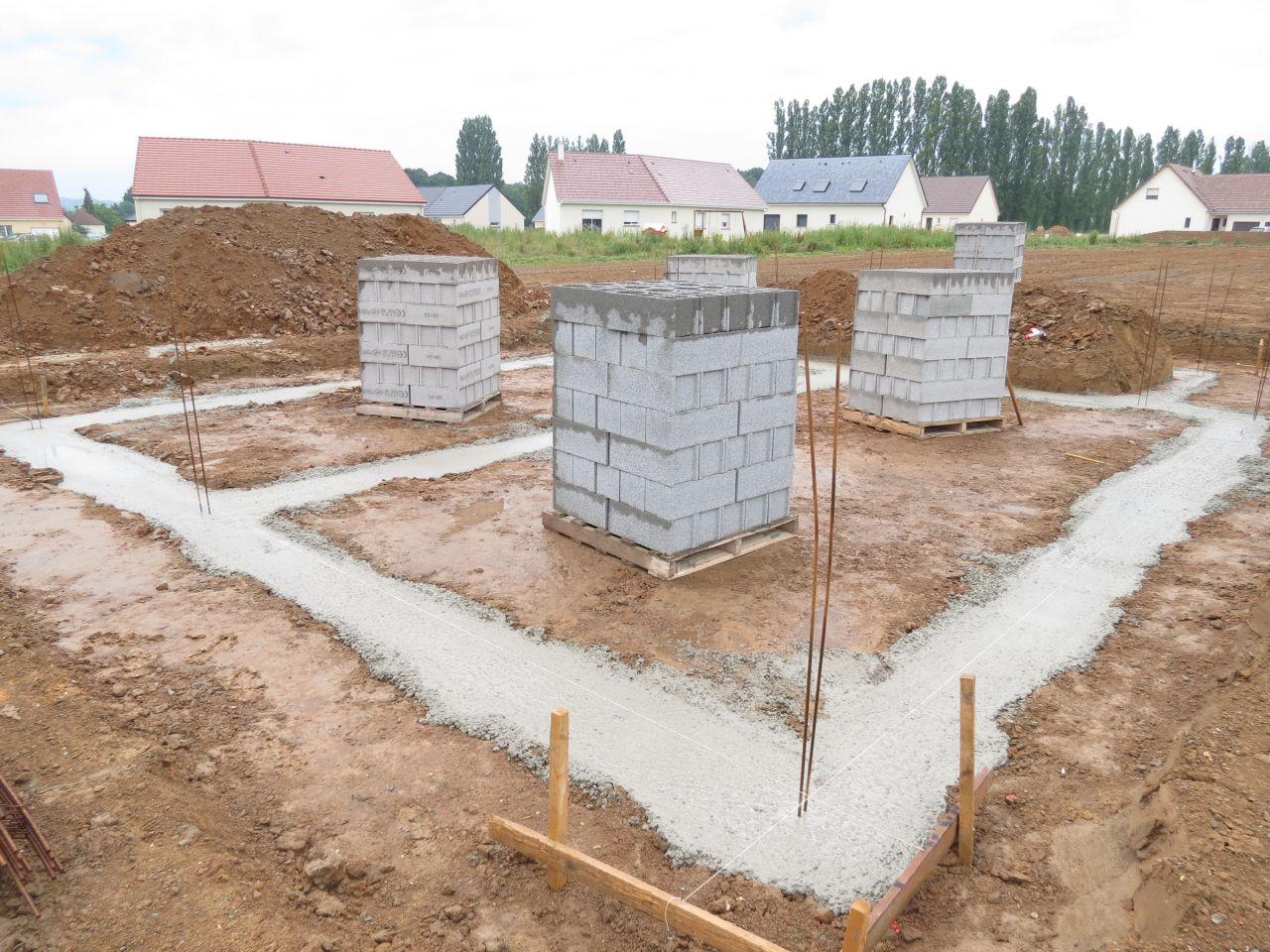 Implantation et coulage fondations