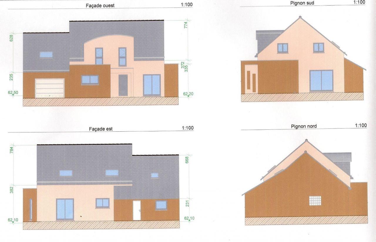 plan de masse de la maison par contre le ravalement ne sera pas celui çi