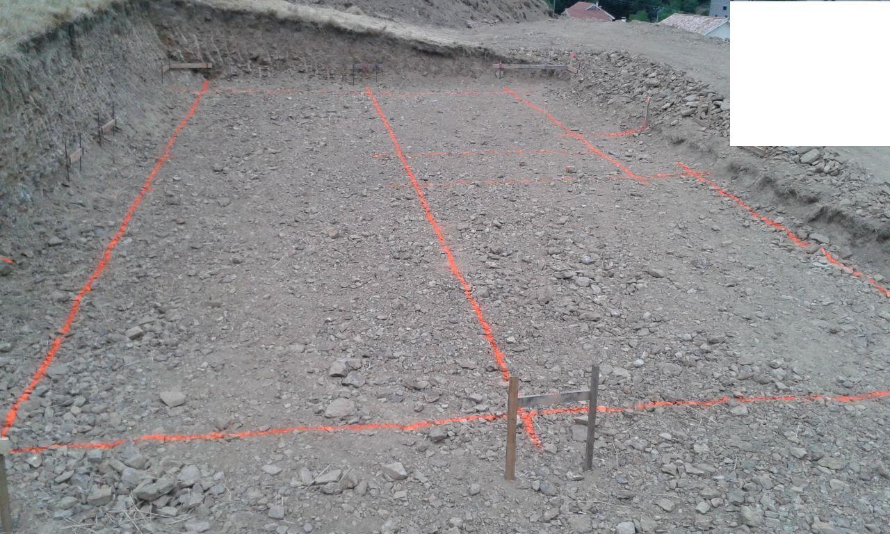 tracé des fondations