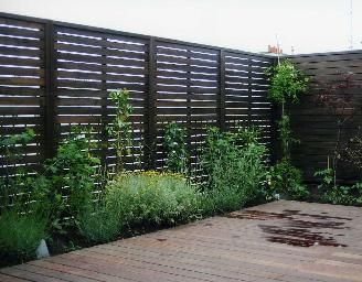 verticale horizontale claustra palissade d structur e une terrasse on va pas attendre. Black Bedroom Furniture Sets. Home Design Ideas