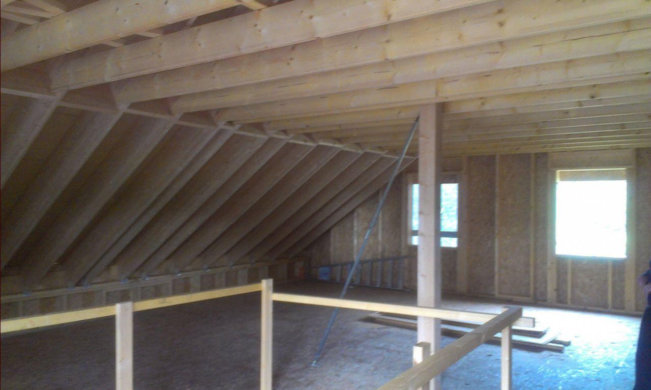 1er étage après installation par pluie en bois dense