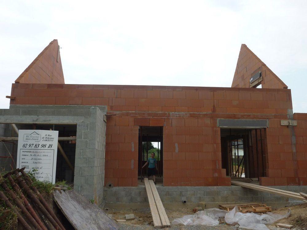 photo constructions brique creuse riantec morbihan 56. Black Bedroom Furniture Sets. Home Design Ideas