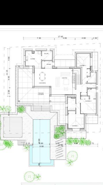 plan du rdc - Plan Maison Plain Pied 200m2