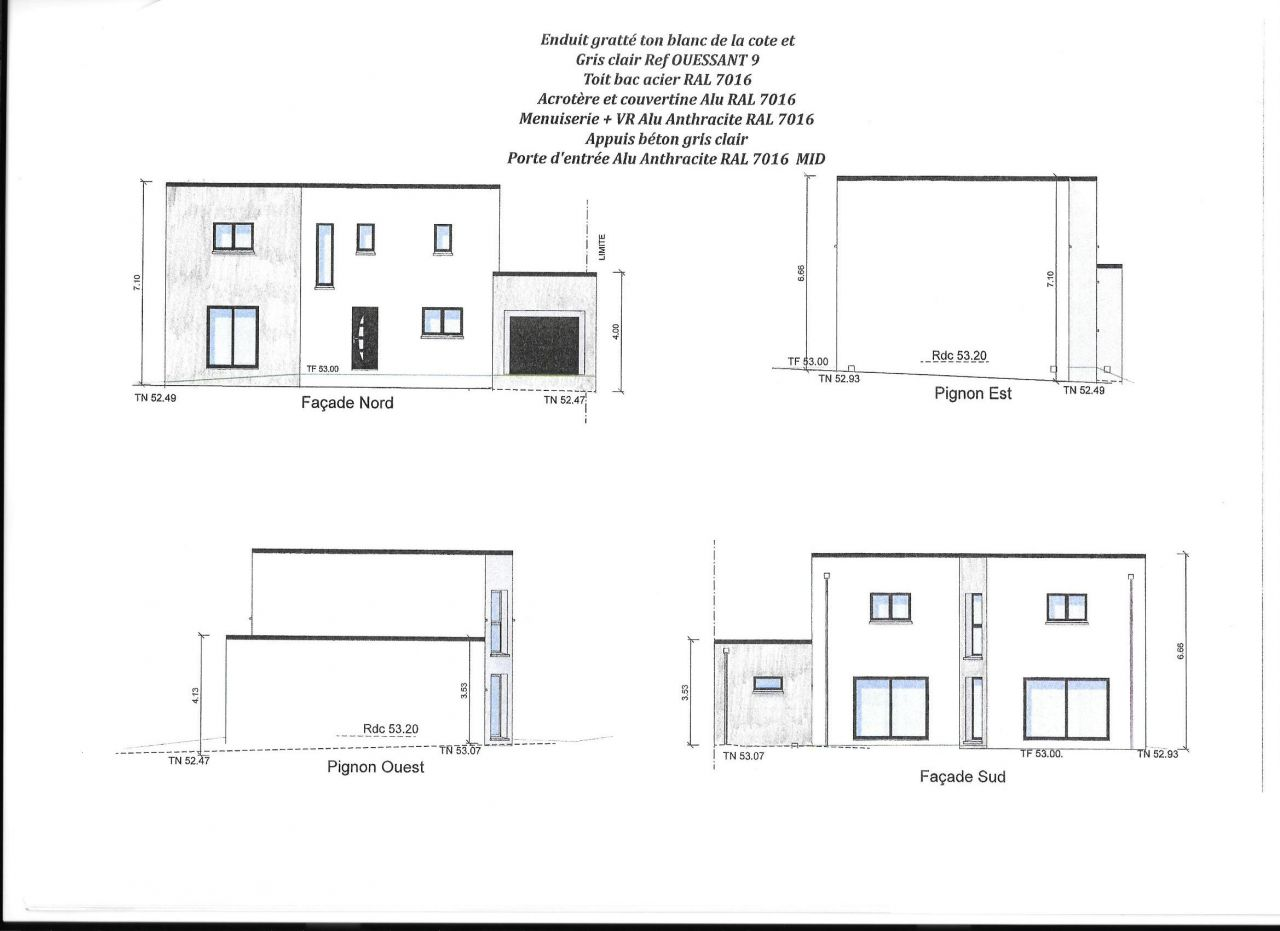 Plans maison toit plat 160m2 40 messages for Plan toiture maison