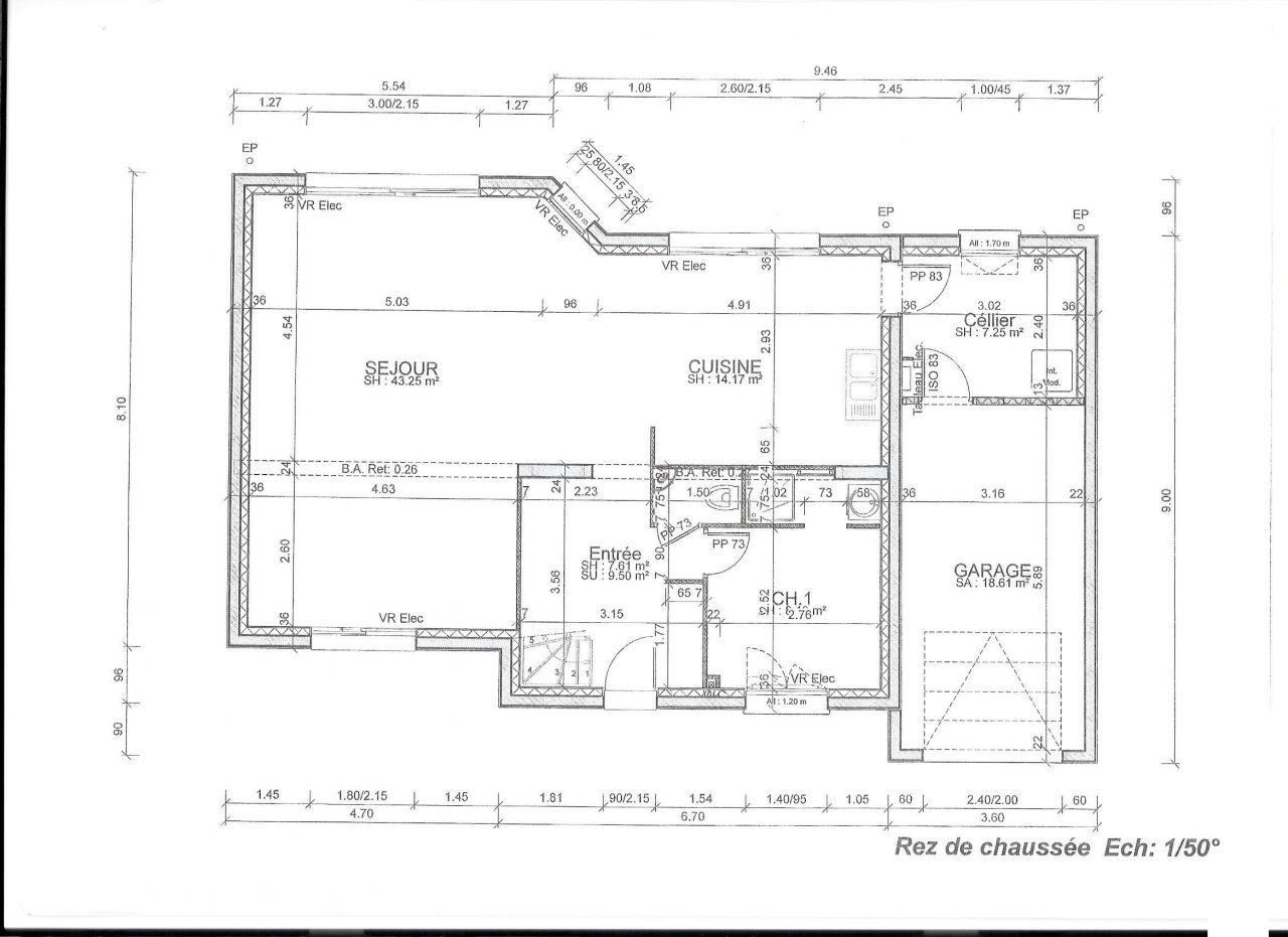 Plans maison toit plat 160m2 40 messages for Plan maison toit plat