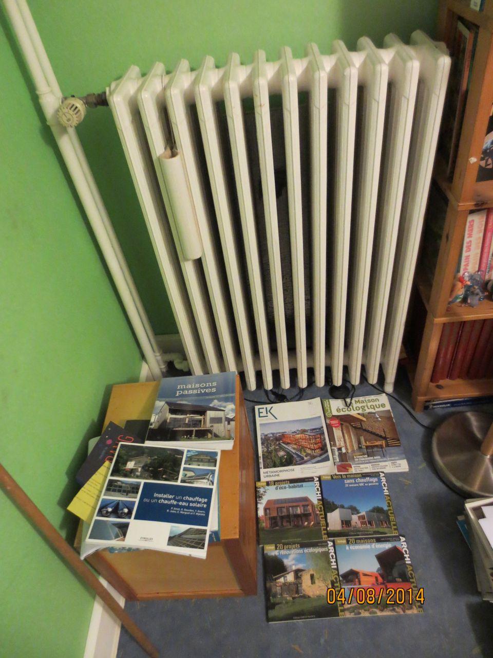 Radiateur en fonte de ma chambre