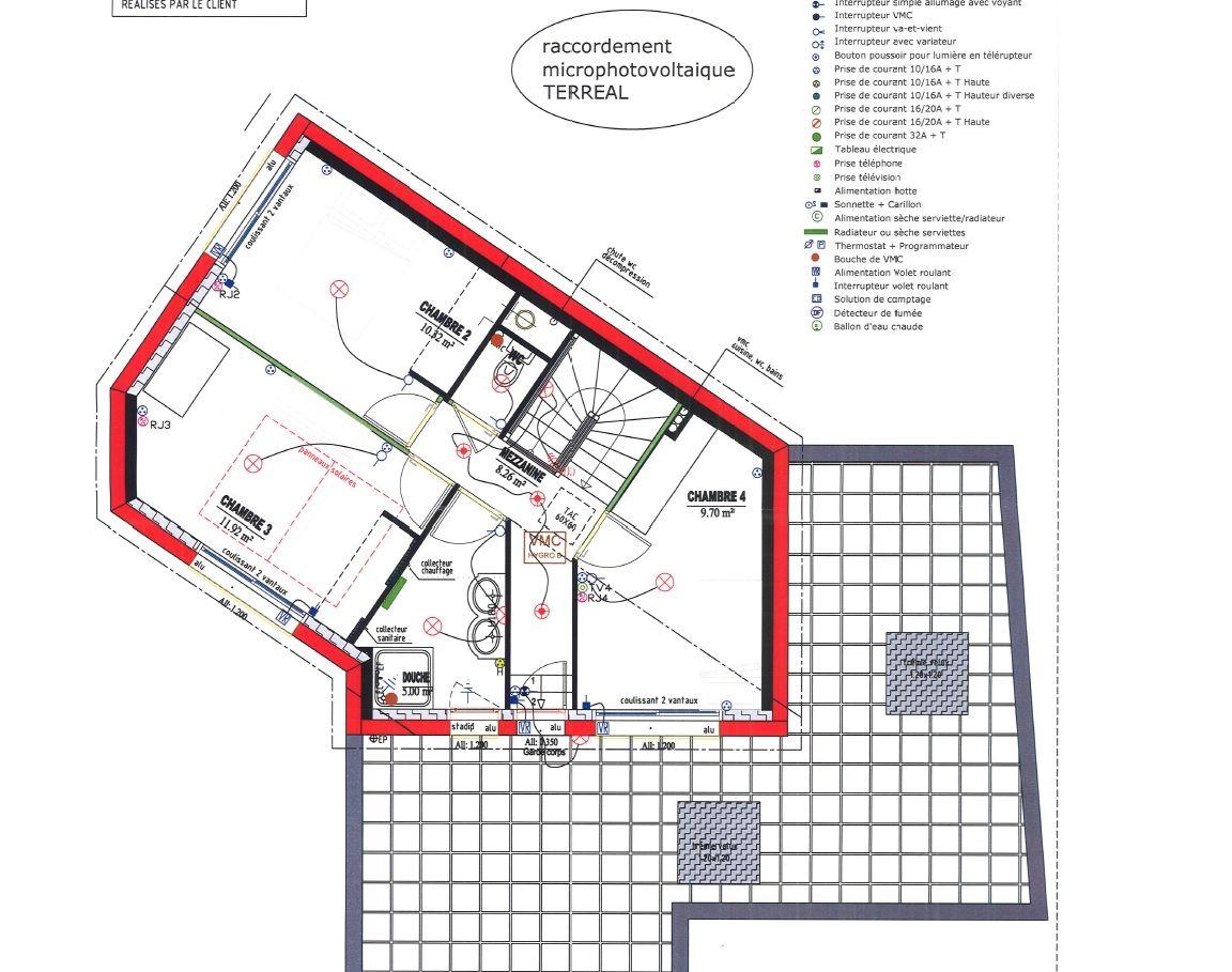 plan elec etage