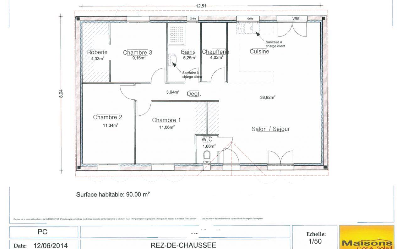 plan cot de maison avie home. Black Bedroom Furniture Sets. Home Design Ideas