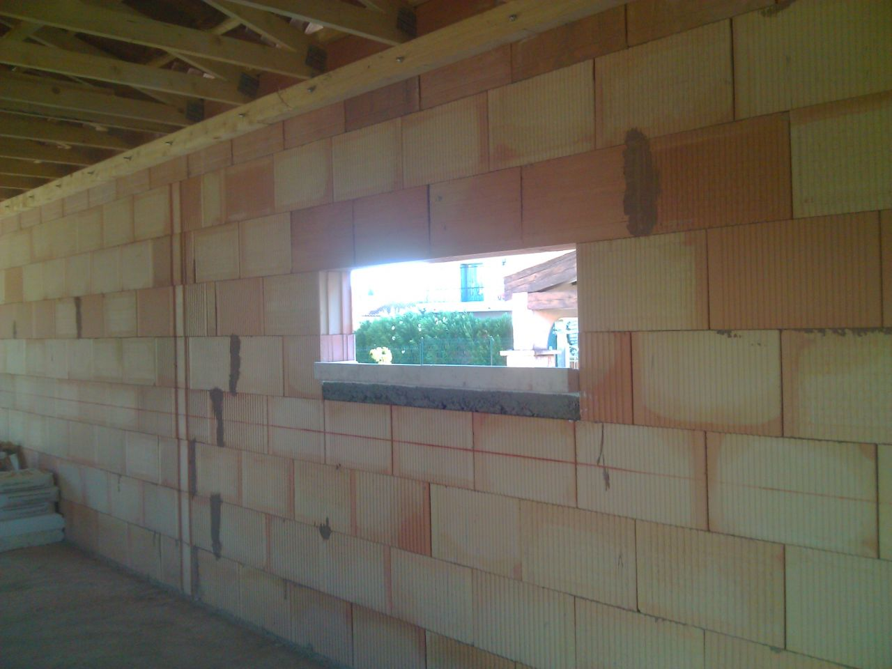 appui de fenêtre en place