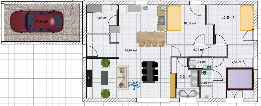 Construction maison 90m2 plain pied qu 39 en pensez vous for Exemple maison sweet home 3d