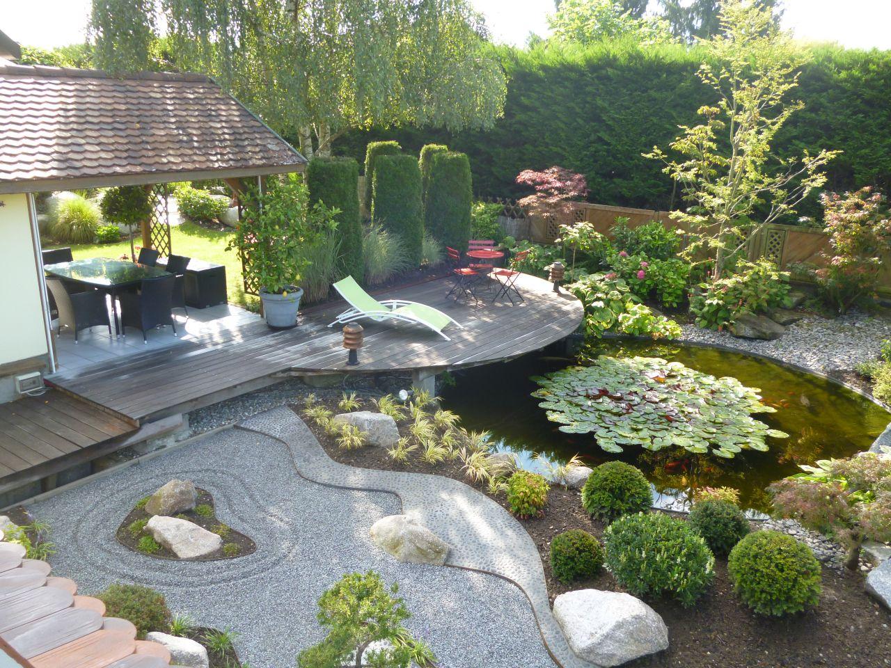 Déco générale du jardin - Haut Rhin (68) - aout 2014