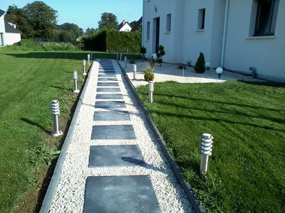 Beautiful Allee De Jardin En Schiste Gallery - House Design ...