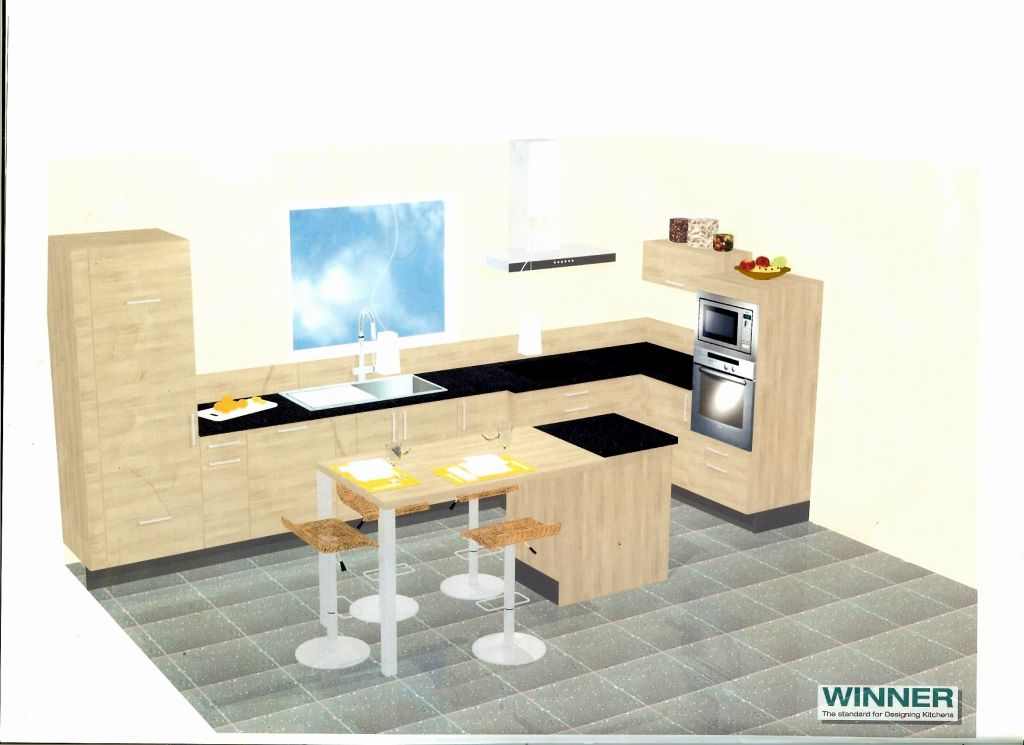 maonnerie de l 39 tage plan de la future cuisine la. Black Bedroom Furniture Sets. Home Design Ideas