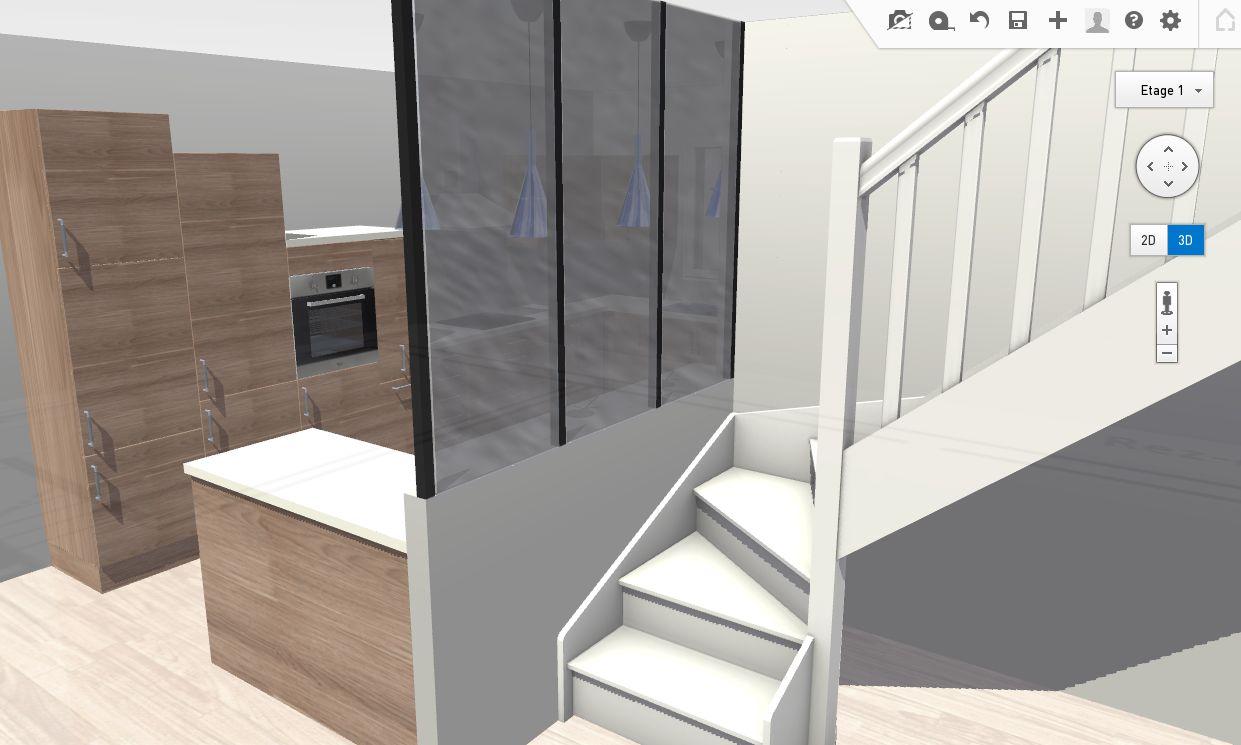 Nouveau plan extension sur maison ancienne 170m 70 for Cloison metallique vitree