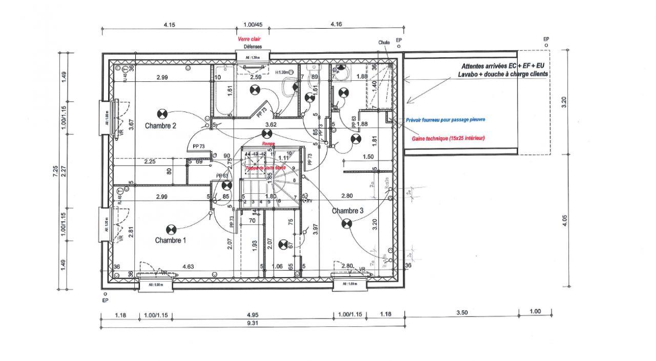 Plan étage - Version finale en cours de validation