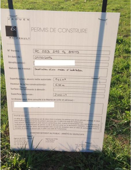 Permis de construire valid signature du terrain for Signature permis de construire