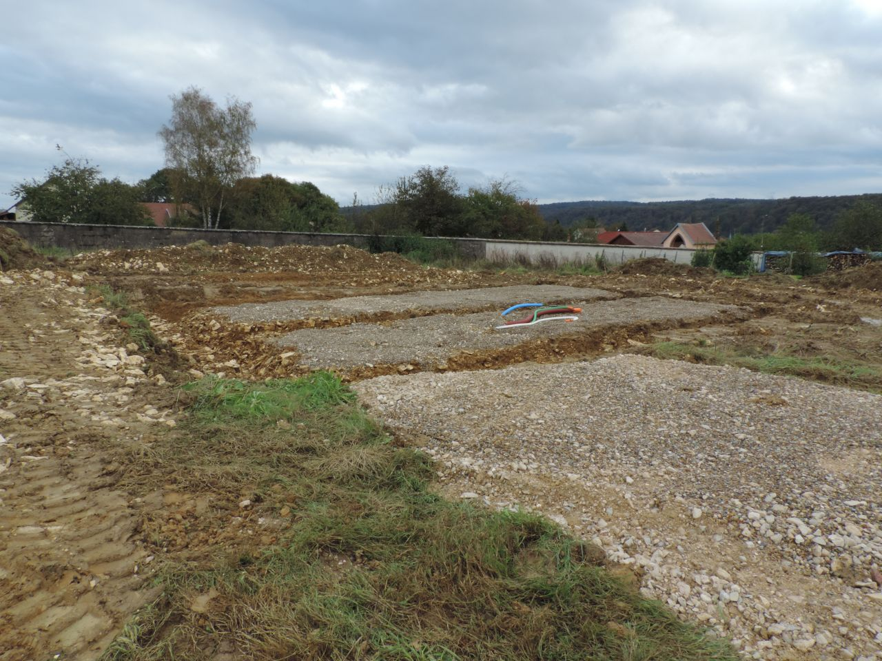 Photo du terrain pendant le terrassement