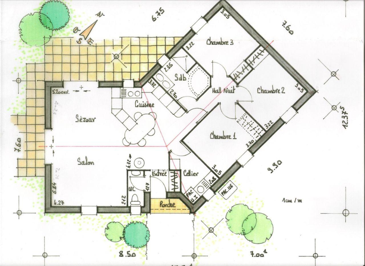 Avis plan 95m plain pied sur terrain plat 22 messages for Idees plan maison