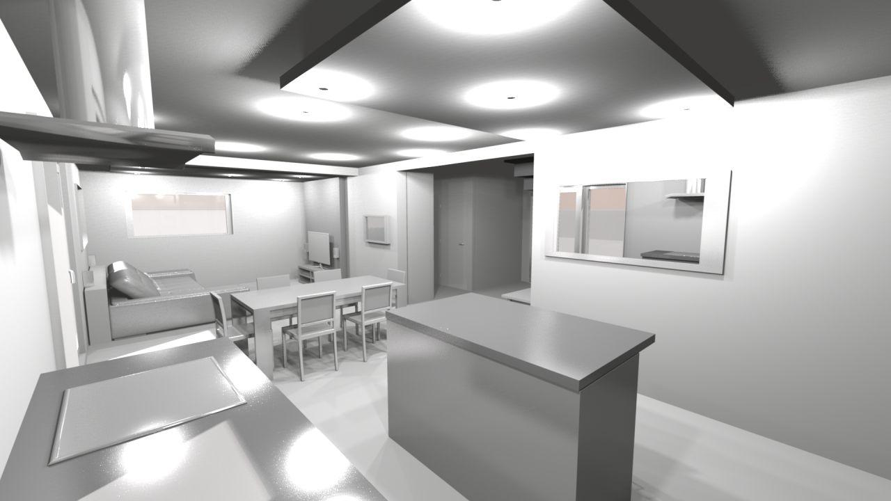 cuisine salon séjour