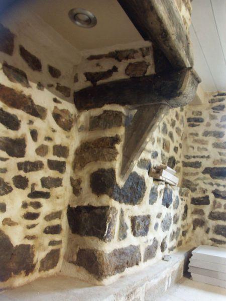 Le plafond de la cheminée du RDC