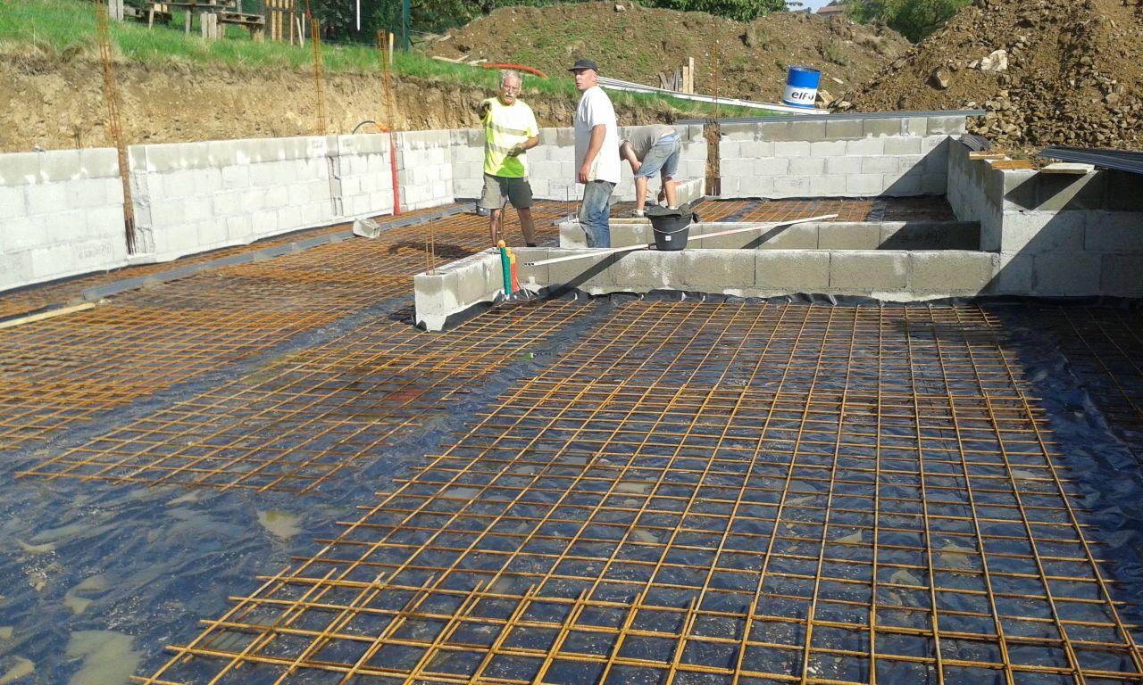 préparation de la dalle du sous sol