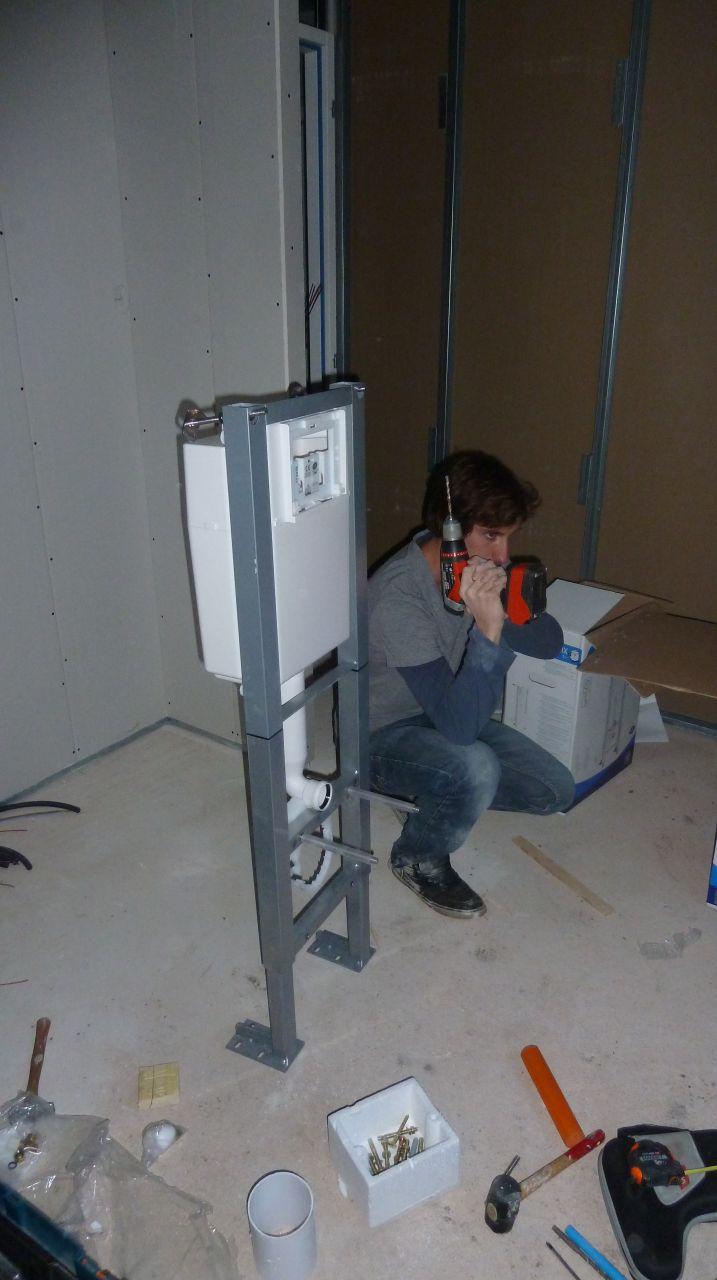 Montage du châssis de nos toilettes suspendues !!
