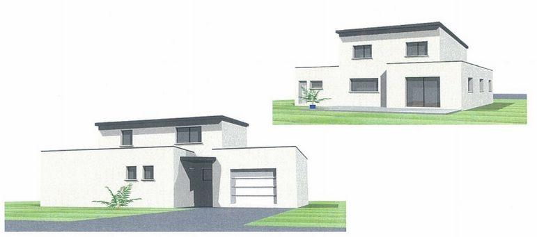 Vue d'ensemble de la future maison.