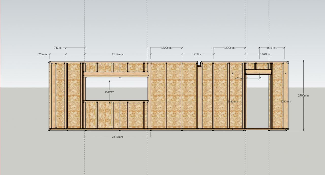 Plan de fabrication mur - contreventement Agepan