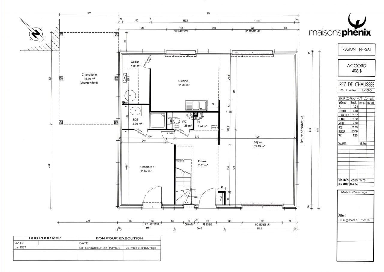 Couverture au sol par la maison proprement dite avie home for Surface au sol maison