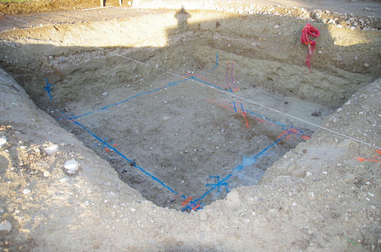 Traces des fouilles