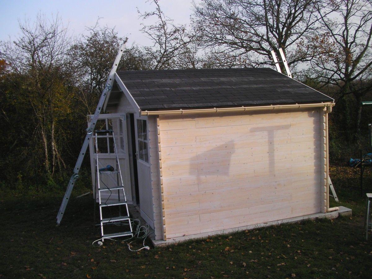 Dalle b ton pour abri de jardin montage de l 39 abri de jardin muret en - Installer un abri de jardin sans dalle ...