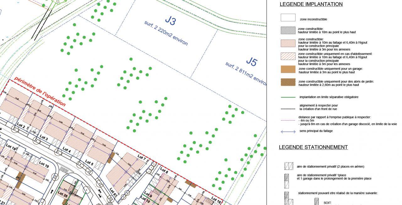 Règlement Graphique du lotissement avec notre Lot N°6