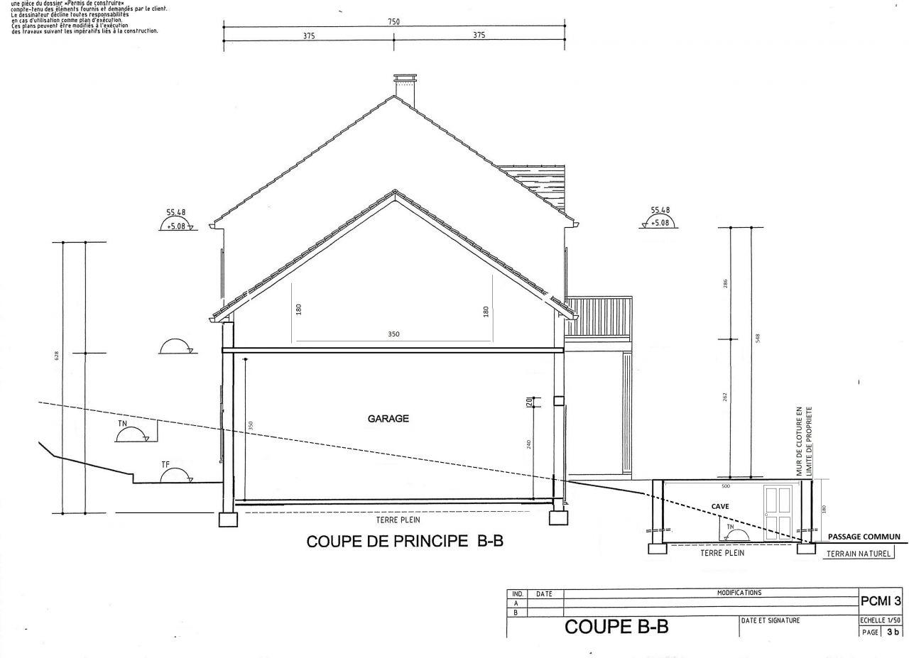 Besoin d 39 aide architecte yvelines 9 messages - Plan en coupe terrain et construction ...