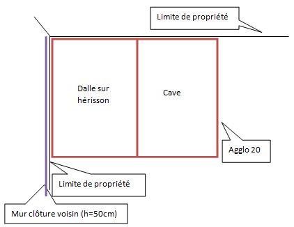 Une histoire de continuit des fondations cave garage - Mur privatif en limite de propriete ...