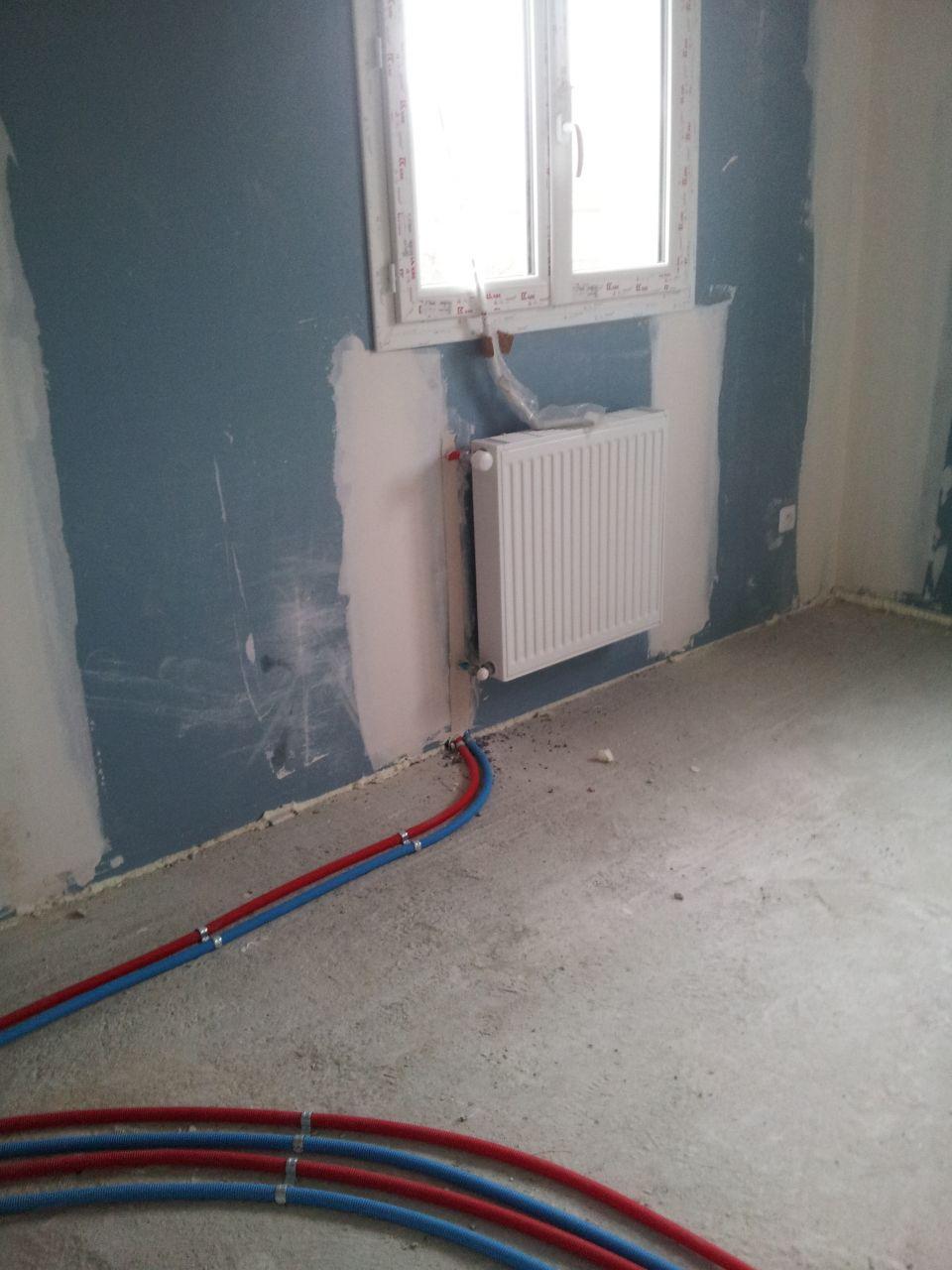 08 12 2014 travaux de plomberie termin s 08 12 2014 chauffage au sol rdc conseils de la. Black Bedroom Furniture Sets. Home Design Ideas