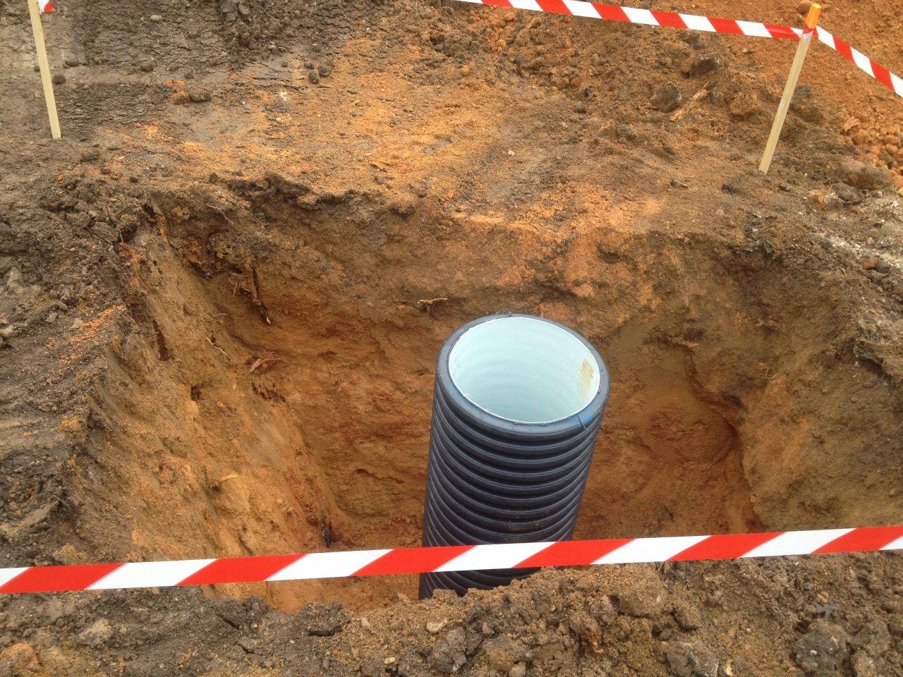 puisard pour eaux des drains
