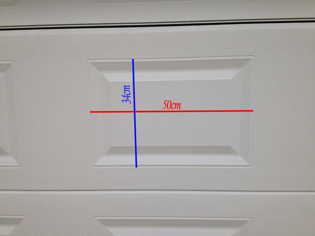 Pose De Hublot Dans Une Porte De Garage Sectionnelle Messages - Hublot pour porte de garage