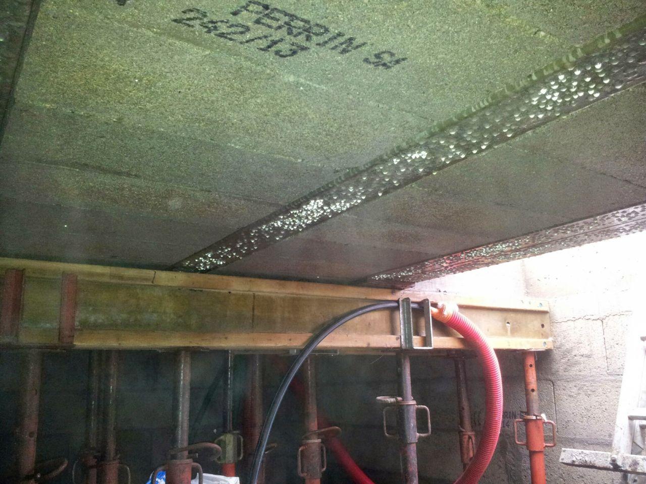 plafond de la cave