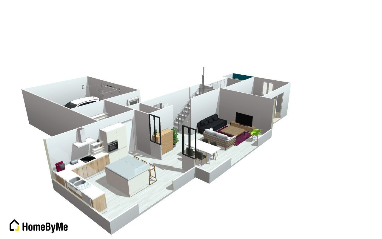 Avis plan maison 130m2 vues 3d 5 messages for Maison plan 3d