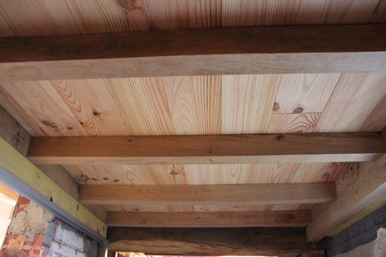 Solivage ch ne et plancher sapin apparent dans douche 7 messages - Plancher bois hydrofuge ...